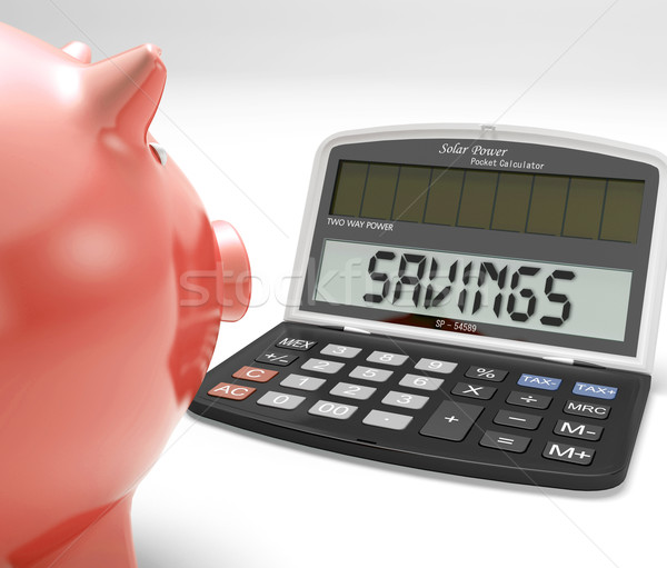 Savings Calculator Shows Growth Save And Invest Stock photo © stuartmiles