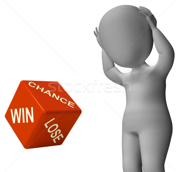 Chance Win Lose Dice Shows Good Luck Stock photo © stuartmiles