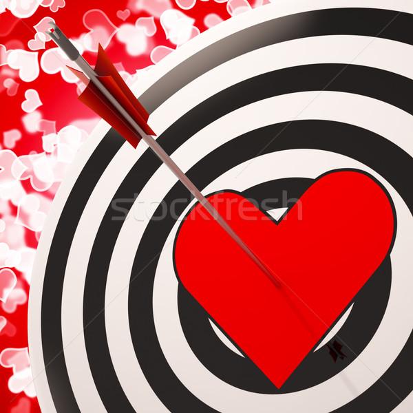 Heart Target Shows Success In Romance Stock photo © stuartmiles