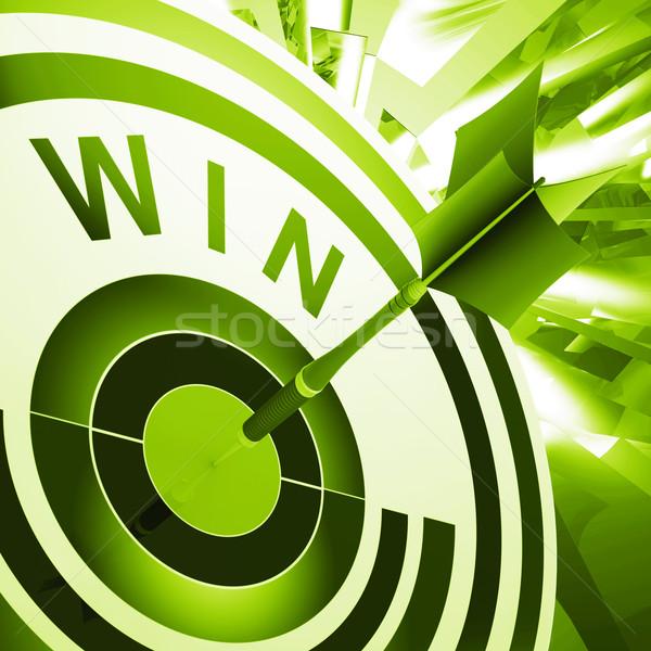 Winnen target overwinning betekenis winnaar vooruitgang Stockfoto © stuartmiles