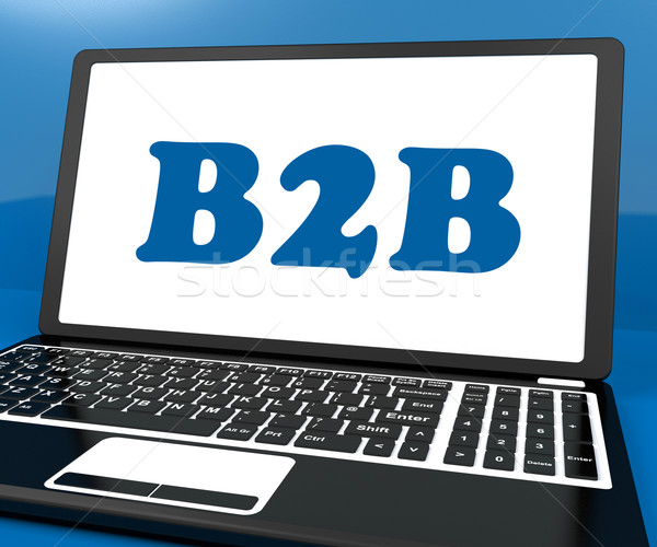 B2b laptop comercial comerţ on-line Imagine de stoc © stuartmiles