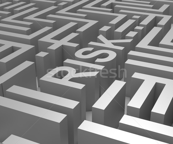 Risk Maze Shows Dangerous Or Risky Stock photo © stuartmiles