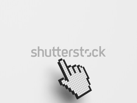 Cursor Hand On White Background Shows Blank Copyspace Website Stock photo © stuartmiles