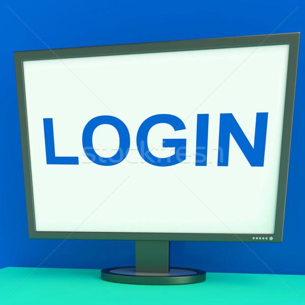 écran site internet s'identifier sécurité Photo stock © stuartmiles