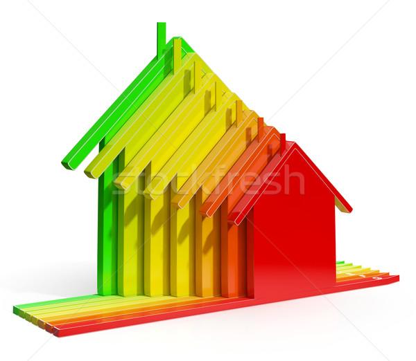 Efficacité énergétique maisons eco maison environnement Photo stock © stuartmiles