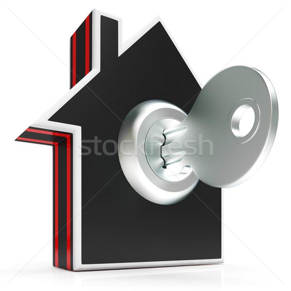 Otthon kulcs ház védett zárolt mutat Stock fotó © stuartmiles