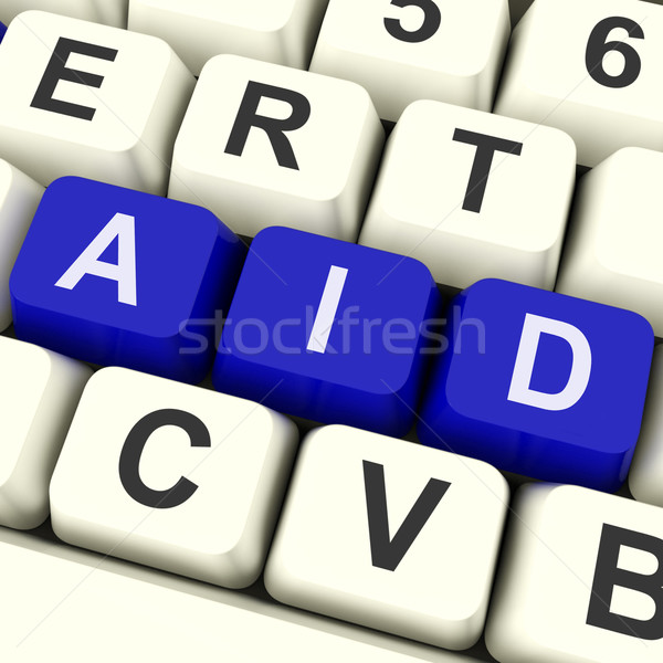 Aid Key Means Help Or Assist