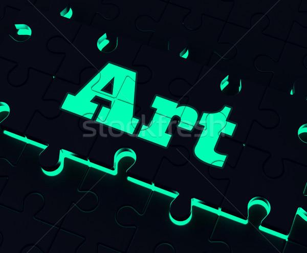 Art Puzzle Shows Creative Arts Artistic Artist And Artwork Stock photo © stuartmiles