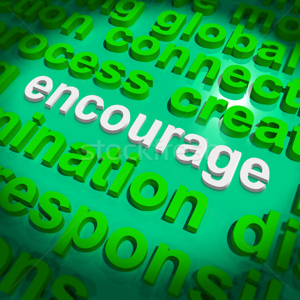 Encourage Word Cloud Shows Promote Boost Encouraged Stock photo © stuartmiles