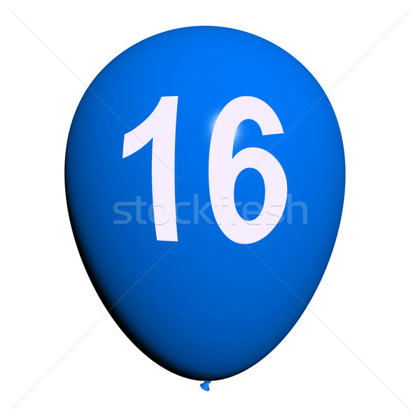 16 Balloon Shows Sweet Sixteen Birthday Party Stock photo © stuartmiles