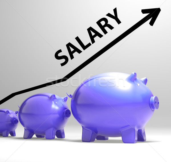 Salary Arrow Shows Pay Rise For Workers Stock photo © stuartmiles