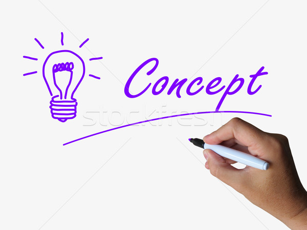 Concept and Lightbulb Show Conception Ideas and thinking Stock photo © stuartmiles
