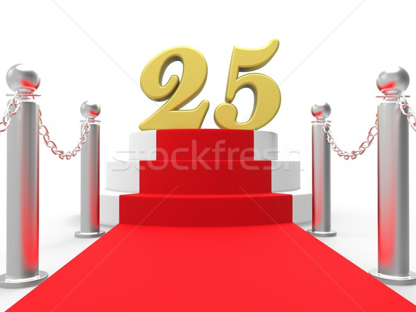 Golden Twenty Five On Red Carpet Means Movie Anniversary Or Reme Stock photo © stuartmiles