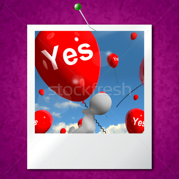 Oui ballons photo certitude approbation Photo stock © stuartmiles
