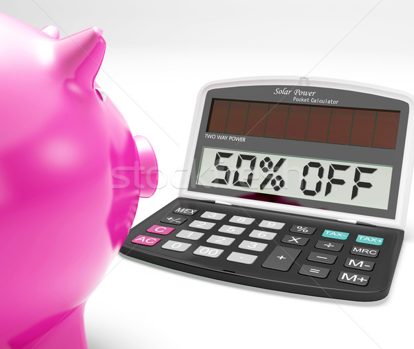 Fifty Percent Off Calculator Means Half-Price Promotions Stock photo © stuartmiles