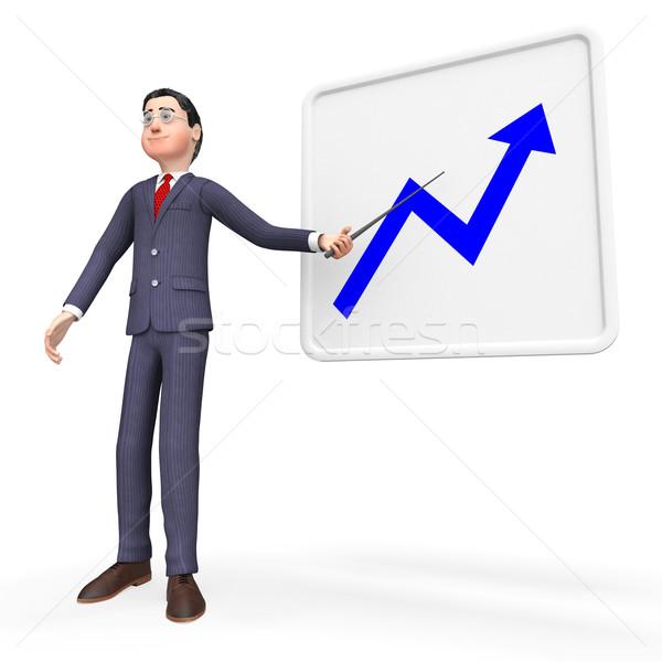 Progress Graph Represents Improvement Trend And Investment Stock photo © stuartmiles