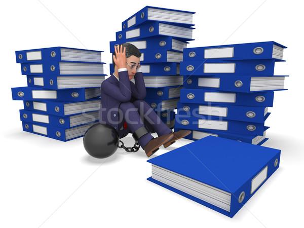 Zakenman overbelasten werk betekenis administratie Stockfoto © stuartmiles