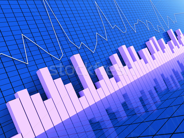 Grafiek verslag statistisch informatie grafieken prognose Stockfoto © stuartmiles