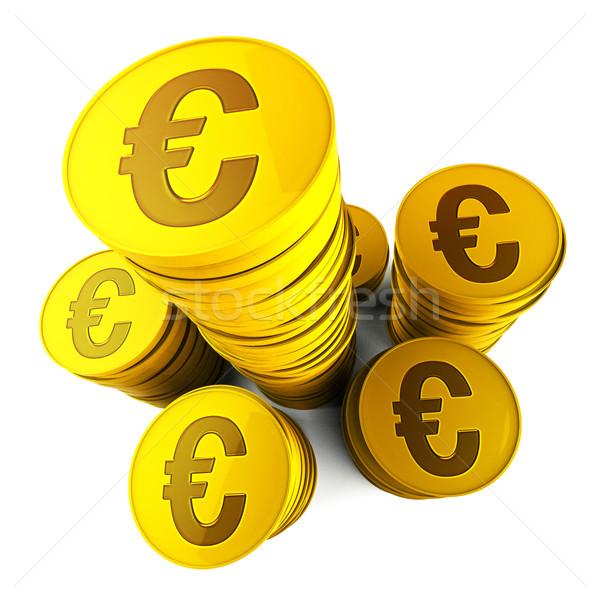 Euro Savings Shows Euros Saved And European Stock photo © stuartmiles