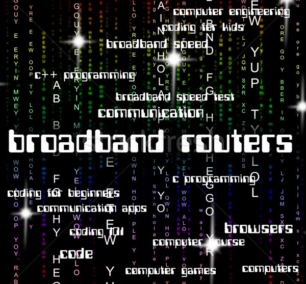 Breedband routers world wide web betekenis Stockfoto © stuartmiles