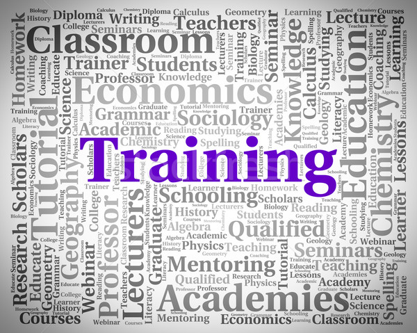 Training Word Shows Lessons Teach And Webinar Stock photo © stuartmiles