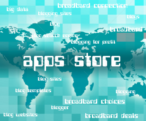 Apps Store Represents Application Software And Applications Stock photo © stuartmiles