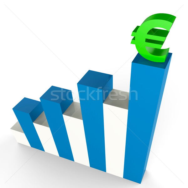 Euro Gain Indicates Financial Report And Advance Stock photo © stuartmiles