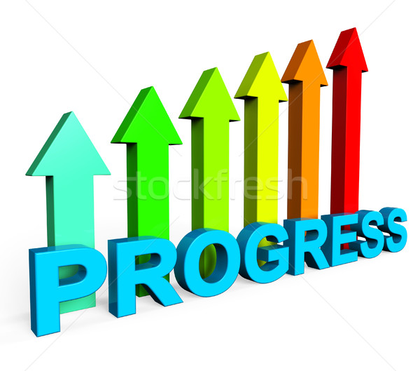 Progress Improving Indicates Business Graph And Analysis Stock photo © stuartmiles