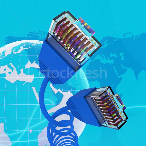 Internet verbinding world wide web computer tonen netwerk Stockfoto © stuartmiles