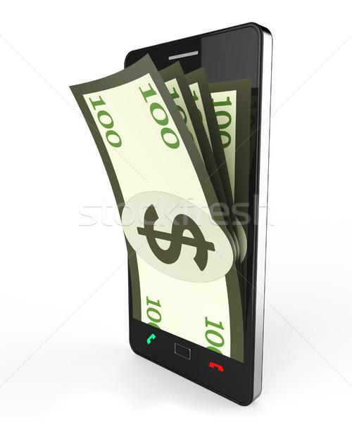 наличных онлайн всемирная паутина банка сайт деньги Сток-фото © stuartmiles