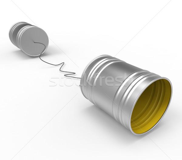 Telefone conversa telefones conversar rede contato Foto stock © stuartmiles