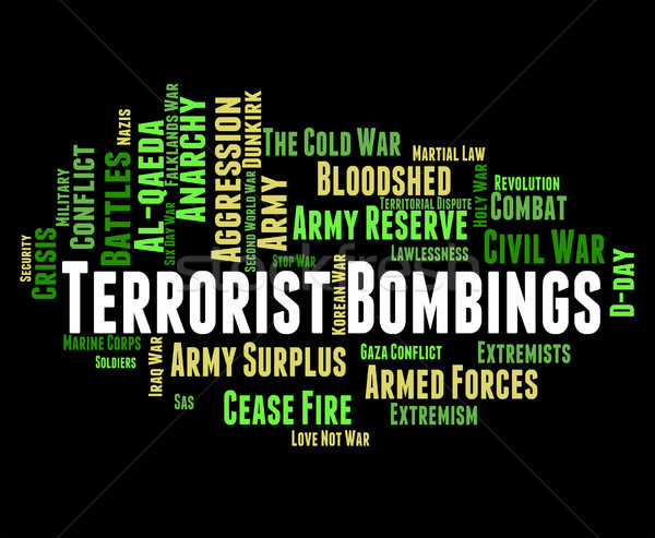 Terrorist Bombings Shows Freedom Fighters And Assassin Stock photo © stuartmiles