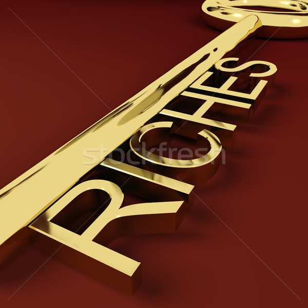Stock photo: Riches Key Representing Wealth and Treasure