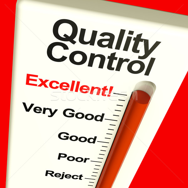 Quality Control Excellent Monitor Showing Satisfaction And Perfe Stock photo © stuartmiles