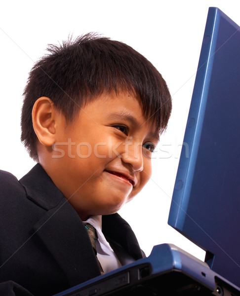 Kid Browsing The Internet Stock photo © stuartmiles