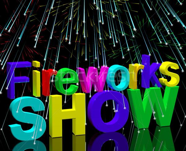 Exploding Fireworks Show For New Years Or Independance Celebrati Stock photo © stuartmiles