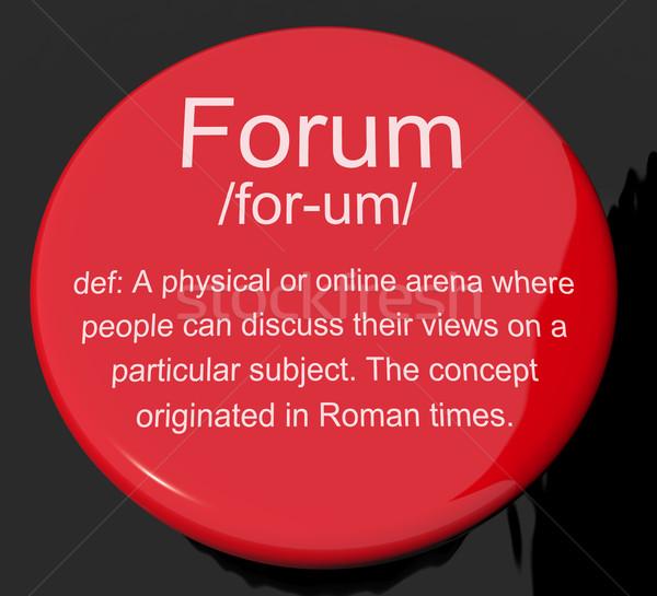 Fórum meghatározás gomb mutat hely online Stock fotó © stuartmiles
