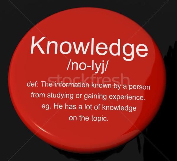 Stok fotoğraf: Bilgi · tanım · düğme · bilgi · istihbarat