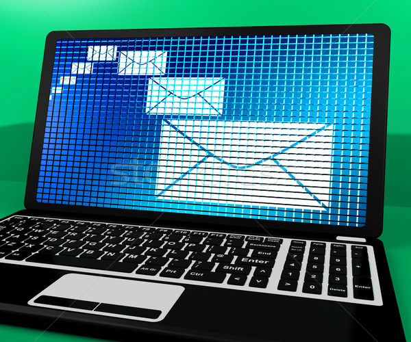 Email Icon On Laptop Shows Emailing Or Contacting Stock photo © stuartmiles