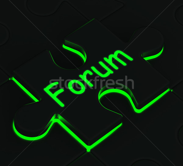Forum puzzle communauté chat informations Photo stock © stuartmiles