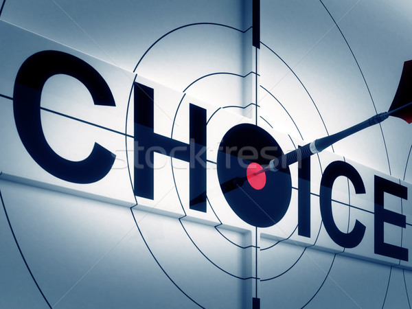 Target Choice Shows Two-way Path Decision Stock photo © stuartmiles