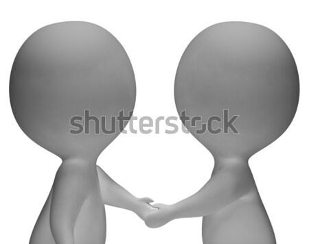 握手 3D 顯示 合作夥伴 友誼 商業照片 © stuartmiles
