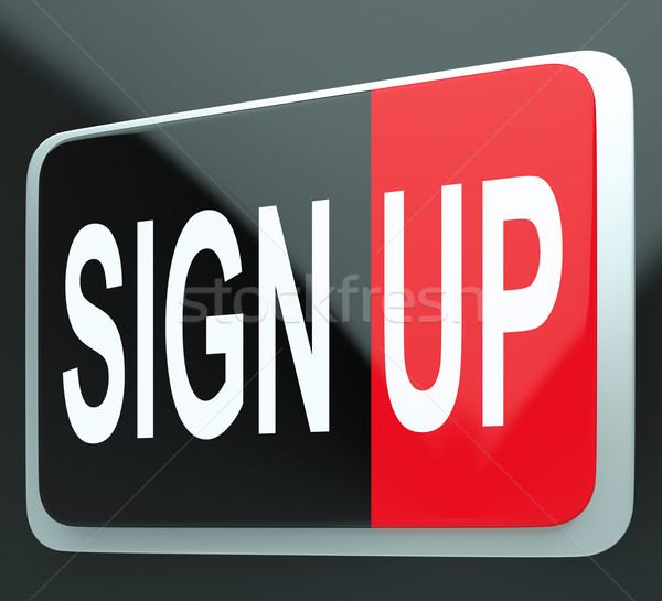 Sign Up Button Shows Members Stock photo © stuartmiles