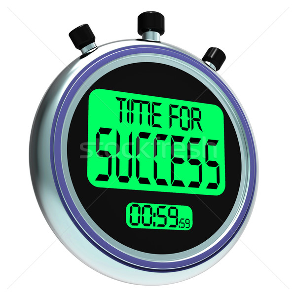 Time For Success Message Meaning Victory And Winning Stock photo © stuartmiles