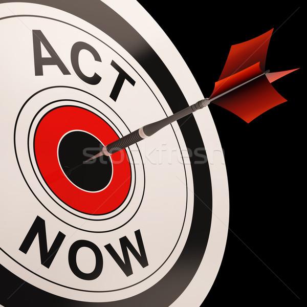Agir agora urgência encorajamento rápido comunicar Foto stock © stuartmiles
