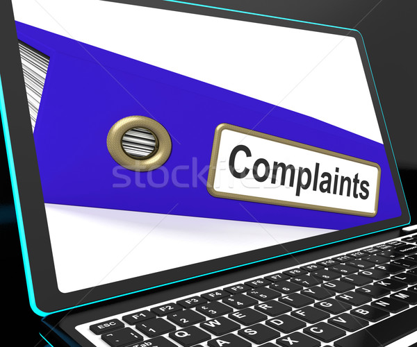 Complaints File On Laptop Shows Complaints Stock photo © stuartmiles