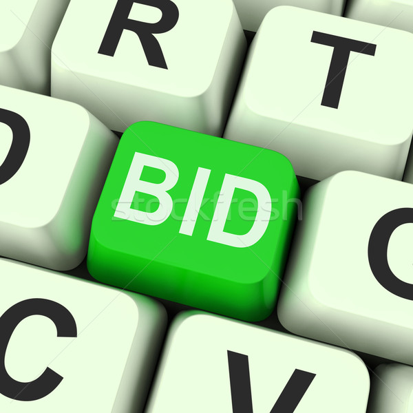 Bid Key Shows Online Auction Or Bidding  Stock photo © stuartmiles