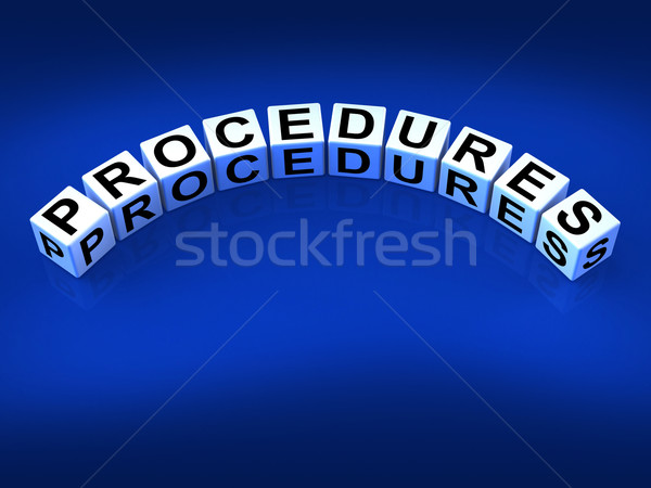 Procedures Blocks Represent Strategic Process and Steps Stock photo © stuartmiles