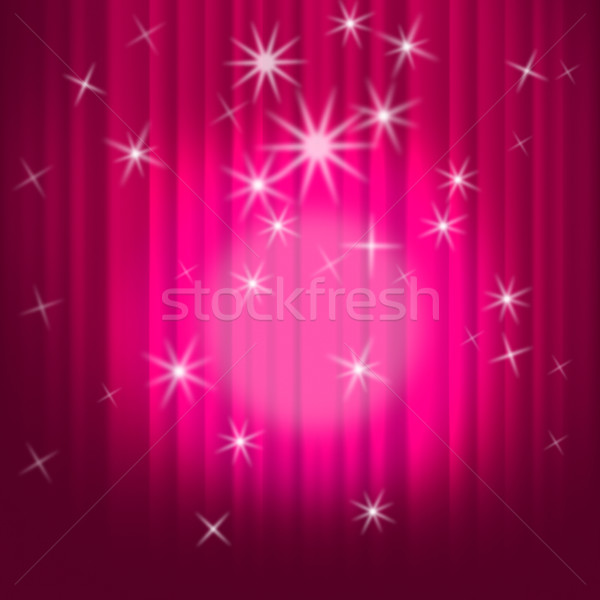 Closed Curtains Background Shows Theatre Performance Or Stage Stock photo © stuartmiles
