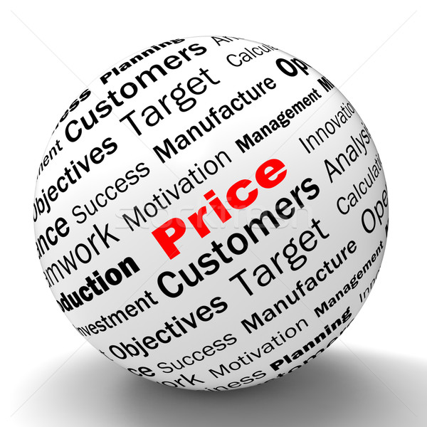 Stock photo: Price Sphere Definition Means Promotions And Savings